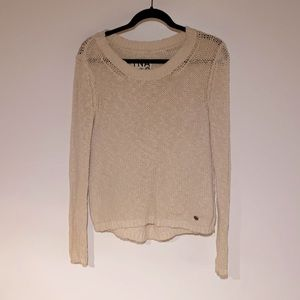 TNA Crochet Pullover Sweater Size S